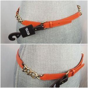 Michael Kors Leather Chain Belt